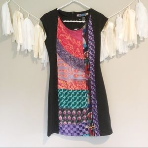 NWT Desigual Dress Short Sleeve Shift Patterned